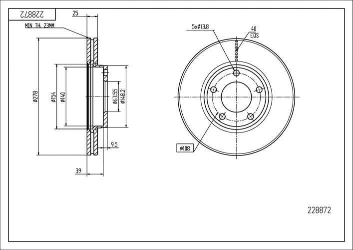 tarcze hamulcowe Focus Mk2 C-Max - przód 278 mm - HART