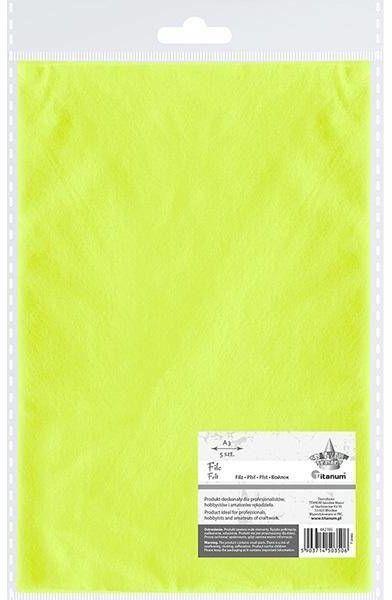 Filc A3 limonkowy 5szt - Titanum