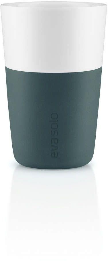 Eva solo - zestaw 2 filiżanek do latte, ciemnoniebieski - 0,36 l
