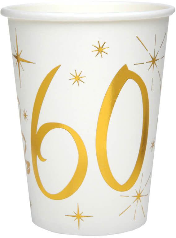 Kubeczki na sześćdziesiąte urodziny 60tka - 10 szt.
