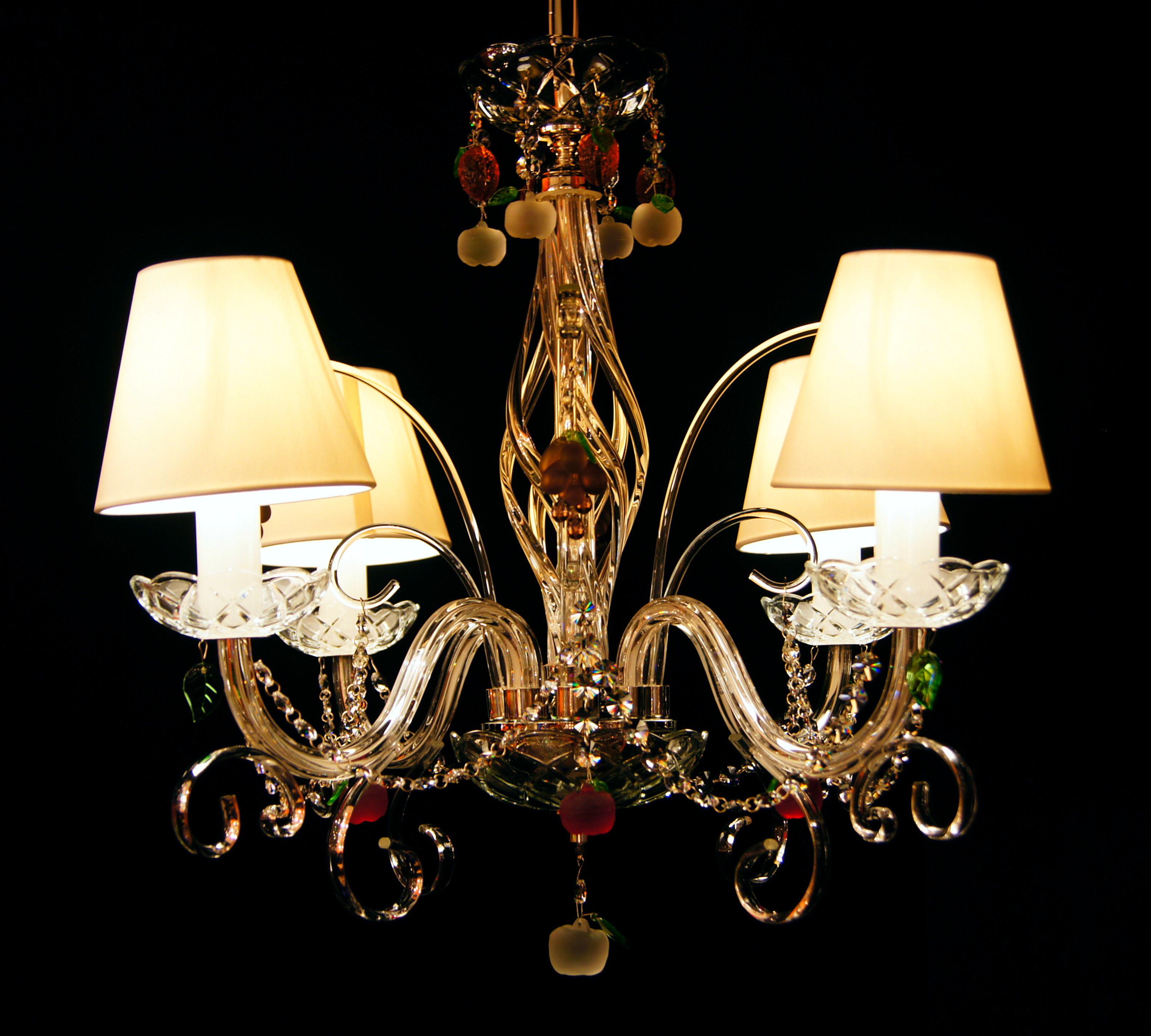 Żyrandol kryształowy 4-ramienny - Elite Bohemia