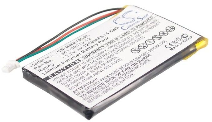 Garmin Edge 605 / 361-00019-12 1250mAh 4.63Wh Li-Polymer 3.7V (Cameron Sino)