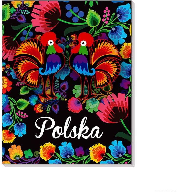 Notes 3D na magnesie Polska Folk czarny