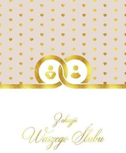 Karnet B6 Ślub - Obrączki - Henry