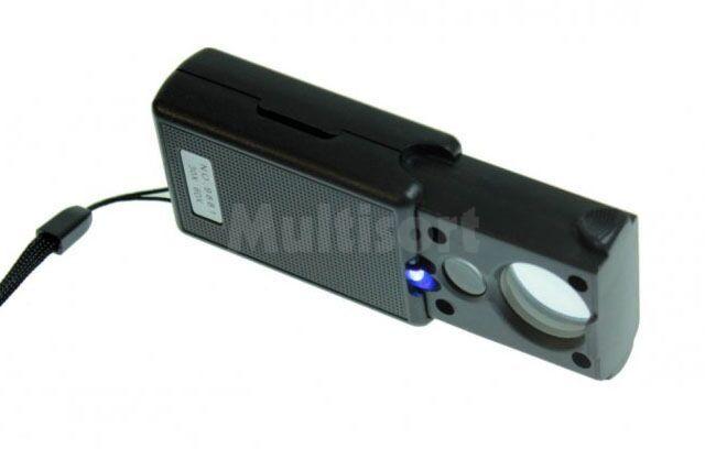 Lupa składana 21mm/12mm x30/x60 LED/UV
