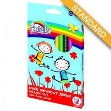 Kredki ołówkowe Super Soft FIORELLO JUMBO, 12 kolorów /170-2218/