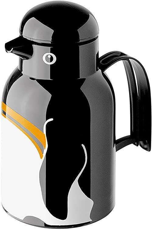 Helios Thermo-Bird Pingwin termos z tworzywa sztucznego, czarny, 1 litr