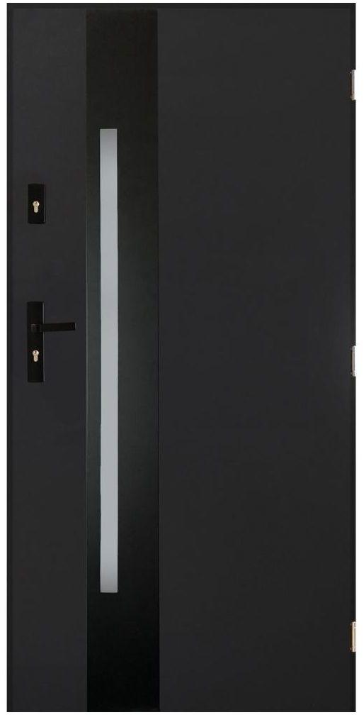Drzwi wejściowe CANNES Antracyt 90 Prawe PANTOR