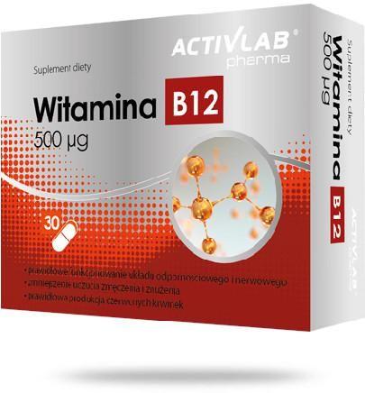 ActivLab Witamina B12 500 g 30 kapsułek