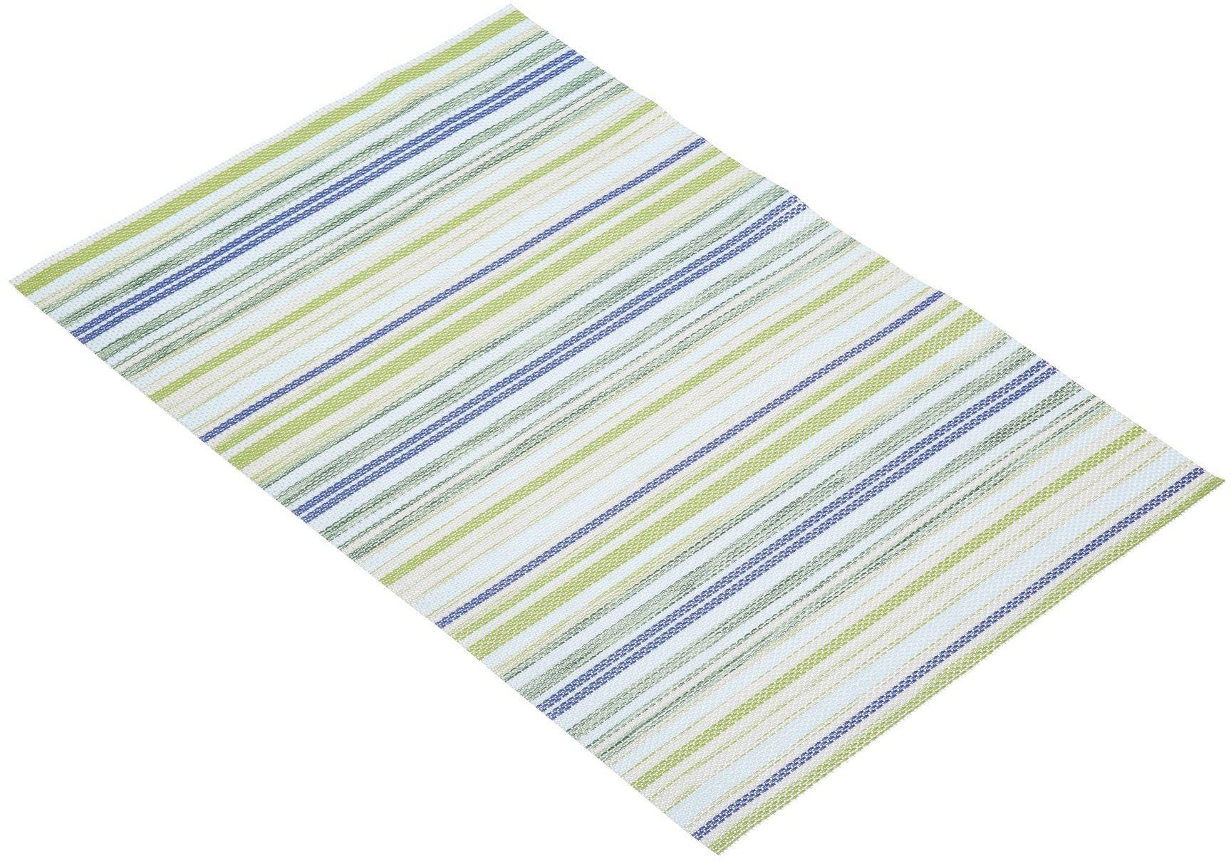 """KitchenCraft tkana podkładka winylowa, 45 x 30 cm (17,5"""" x 12"""") - niebieski / zielony"""