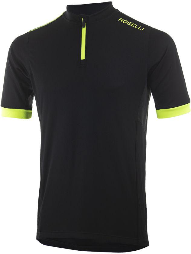 ROGELLI PERUGIA 2.0 męska koszulka rowerowa czarny fluor żółty Rozmiar: 5XL,perguia2-bl-fl