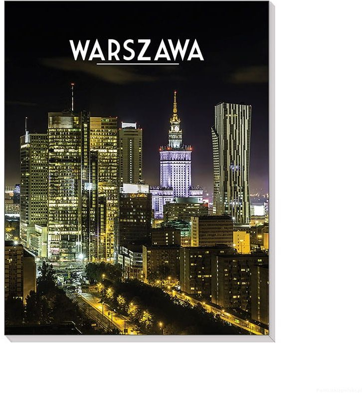 Notes 3D na magnesie Warszawa City by night
