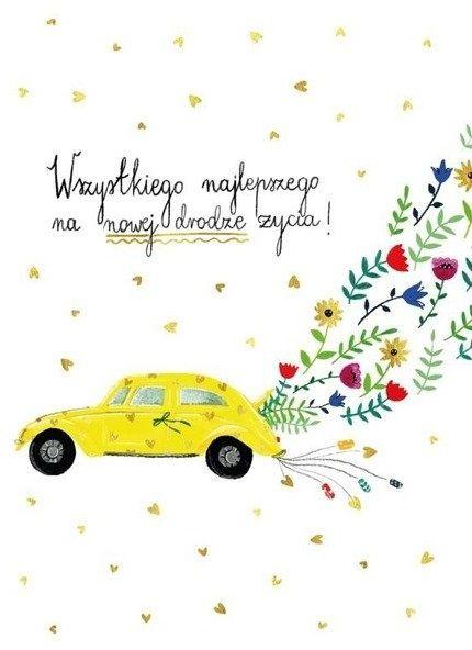 Karnet B6 Ślub - Auto - Henry