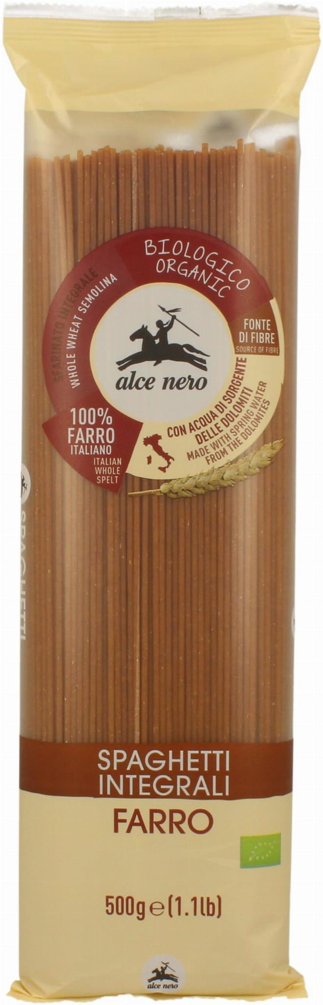Makaron Orkiszowy Razowy Spaghetti BIO 500g - Alce Nero