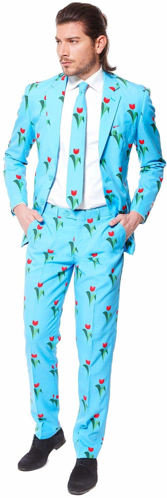 OppoSuits Zabawne stroje dla mężczyzn na bal maturalny  kompletny zestaw: marynarka, spodnie i krawat
