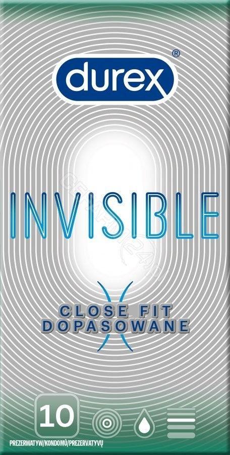 Durex Prezerwatywy Invisible Close Fit - 10 sztuk