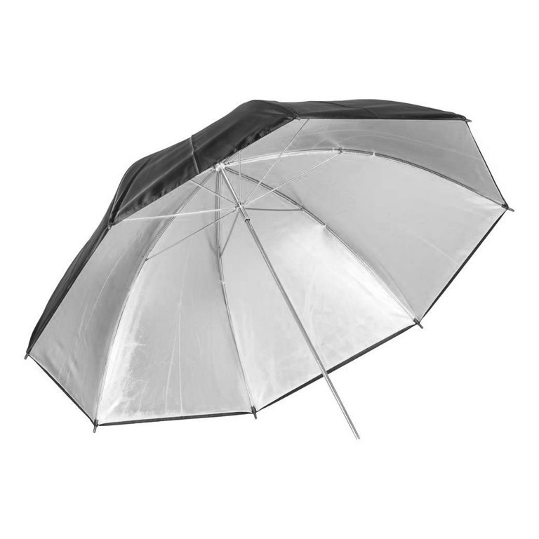 Parasolka srebrna Quantuum 91 cm - WYSYŁKA W 24H