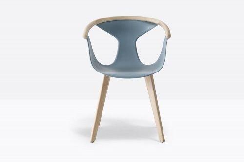 Pedrali Krzesło Fox 3725 BL Niebieski, Jasne wykończenie