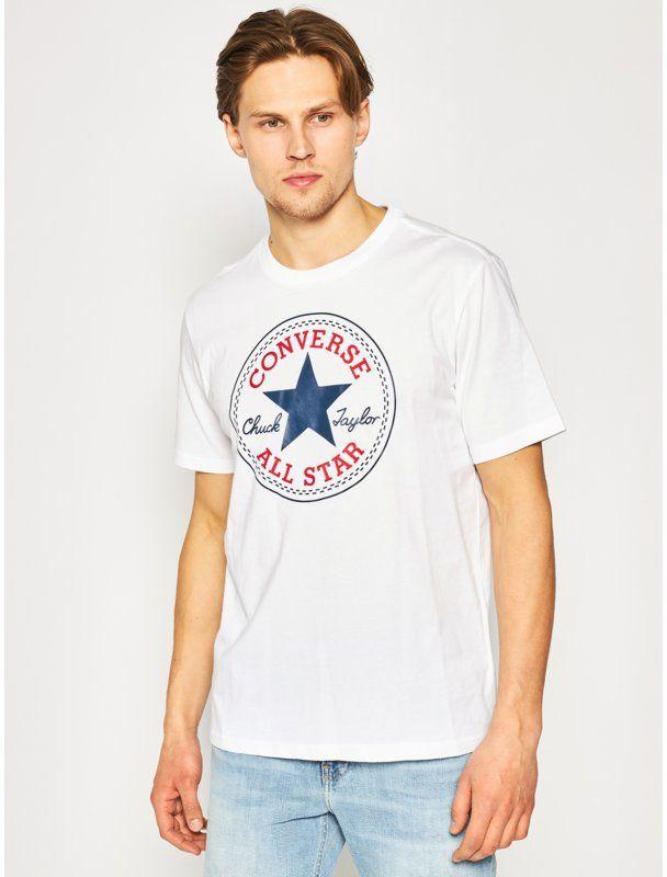 Converse T-Shirt Chuck Pack 10007887-A04 Biały Regular Fit