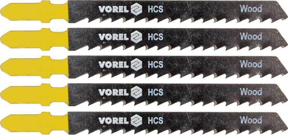 Brzeszczot do wyrzynarki,uchwyt typu bosch, do drewna, metalu i plastiku, kpl. 5szt. Vorel 27812 - ZYSKAJ RABAT 30 ZŁ