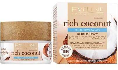Eveline Rich Coconut Multi-nawilżający kokosowy krem do twarzy 50 ml