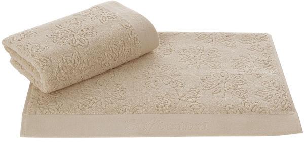 Ręcznik LEAF 50 x 100 cm Beżowy