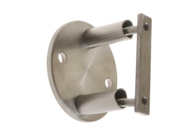 (4) Mocowanie boczne słupka z rury D=42,4x2 mm, AISI304 (A6/021-6-A)
