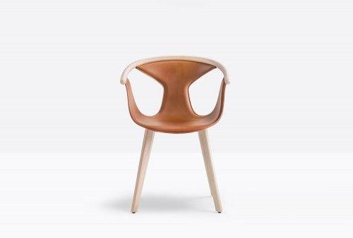 Pedrali Krzesło Fox 3727 Pomarańczowy, Naturalny jasny