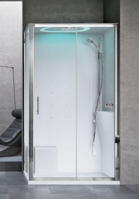 Novellini Eon kabina prostokątna z hydromasażem 120x90 prawa EON2P290DT1F-1AK