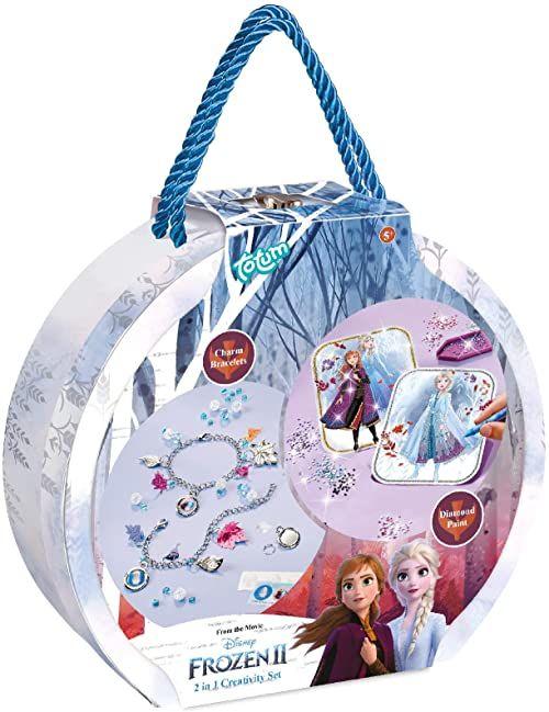 Totum Disney Frozen II Kreatywny Zestaw Bizuterii 2-w-1 w Pudelku Prezentowym