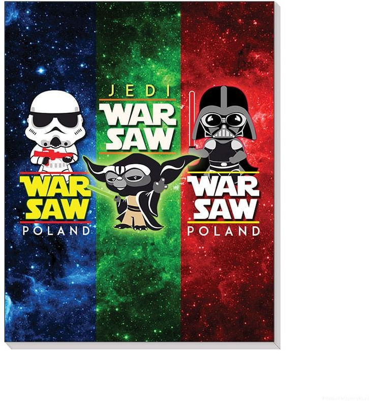 Notes 3D na magnesie Warszawa WarSaw - postacie
