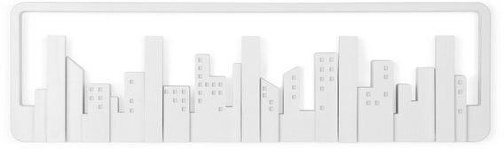 Umbra - listwa z wieszakami skyline - biała - biały