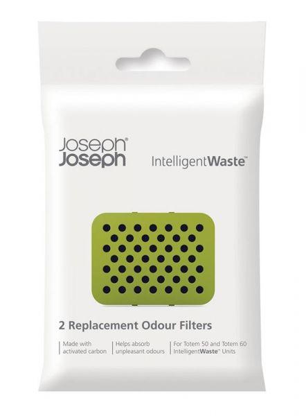 Joseph Joseph Inteligent Waste - Filtr Pochłaniający Zapachy do Koszów TOTEM 2 Szt.
