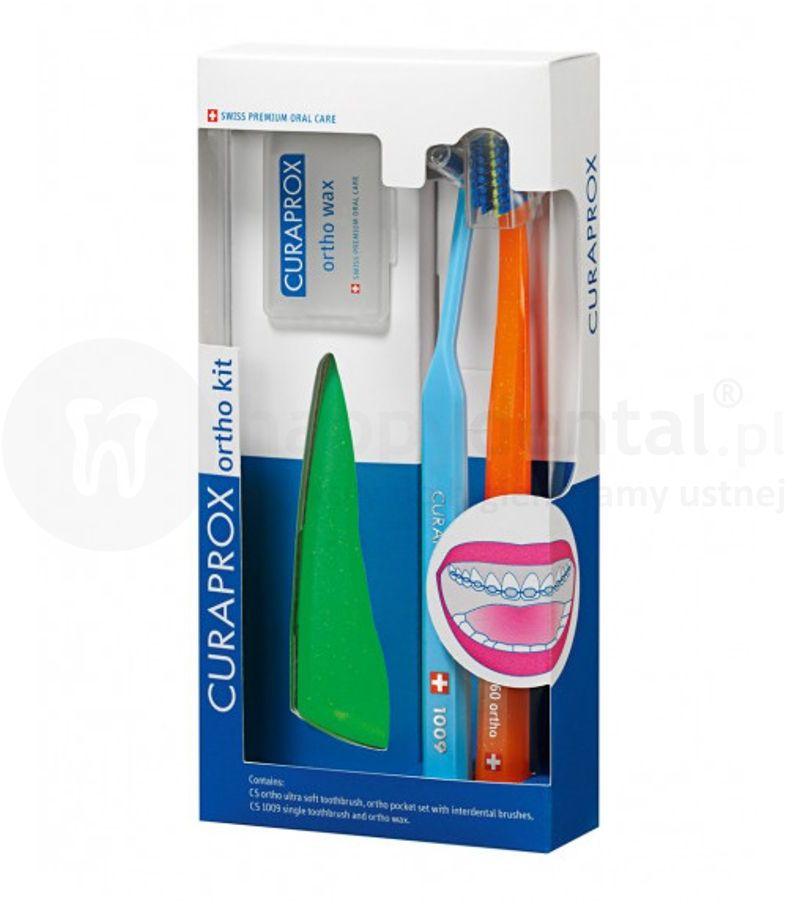 CURAPROX zestaw ortodontyczny produktów do pielęgnacji jamy ustnej podczas leczenia ortodontycznego