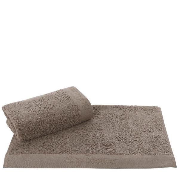 Ręcznik LEAF 50 x 100 cm Brązowy
