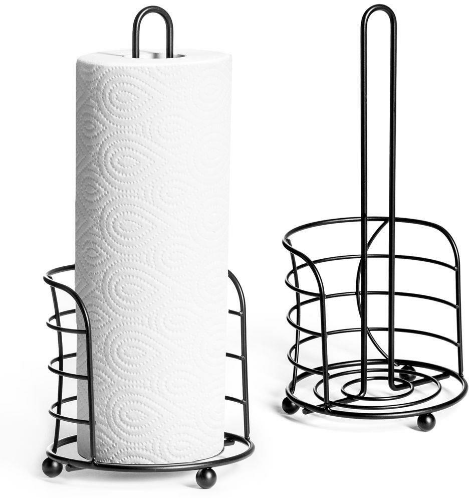 Stojak kuchenny metalowy CZARNY na ręczniki papierowe papier uchwyt na ręcznik papierowy