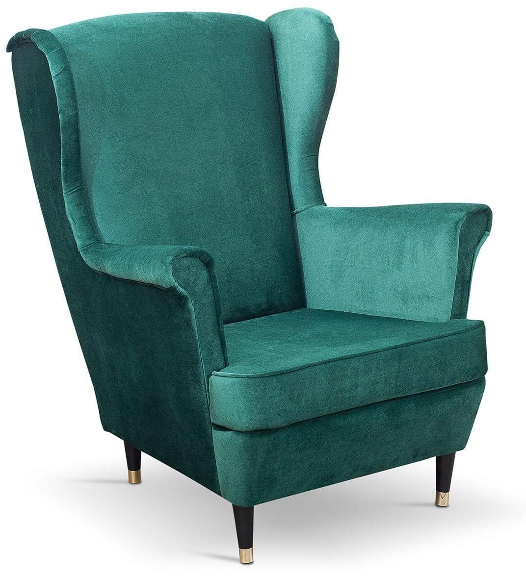 Fotel uszak bez pikowania Lily II w stylu skandynawskim