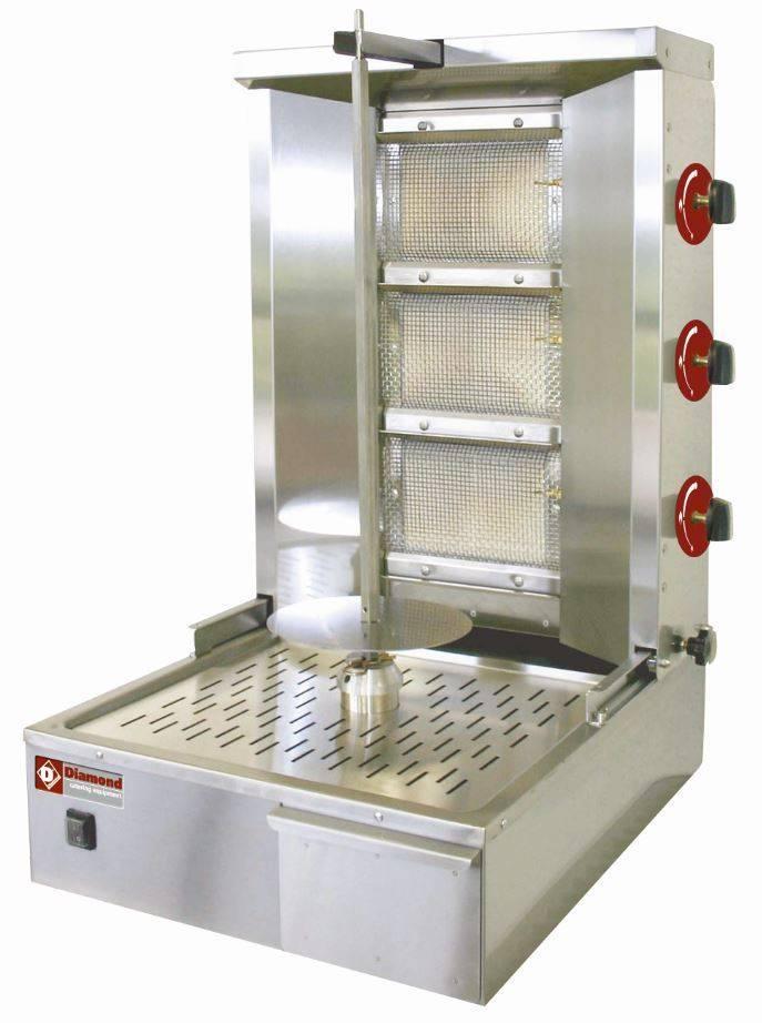 Gyros gazowy 25-35kg 150W 580x660x(H)870mm