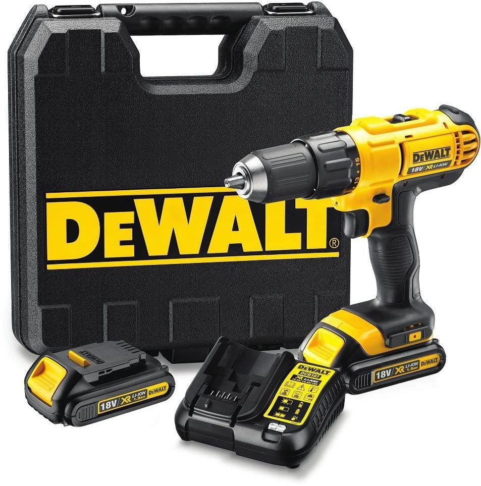 wiertarko-wkrętarka akumulatorowa DeWalt [DCD771C2-QW] 18V XR, Li-Ion, 2x1,3Ah