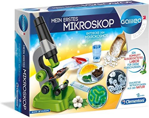 Clementoni 59120 Galileo Science  Mój pierwszy mikroskop, zabawka dla dzieci od 8 lat, ekscytujące laboratorium biologii dla małych naukowców, mikrobiologia dla dzieci szkolnych