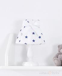 MAMO-TATO Lampka Nocna Gwiazdki granatowe na bieli