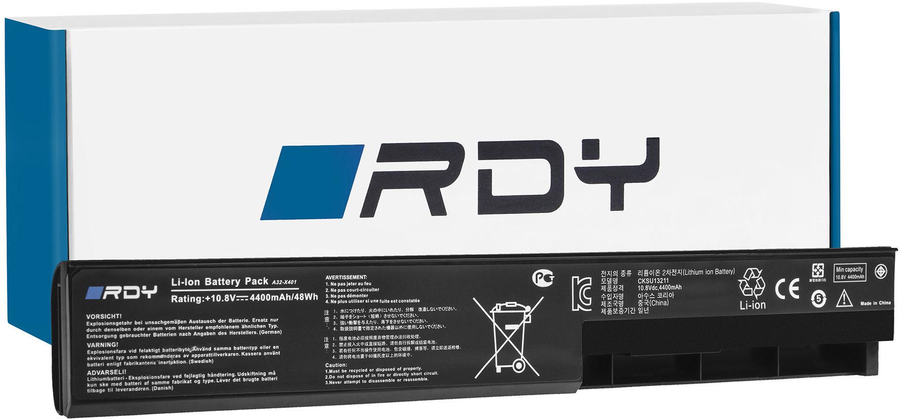 Bateria RDY A32-X401 A31-X401 A41-X401 do Asus X501 X301 X301A X401 X401A X401U X501A X501U