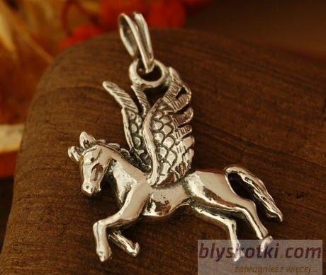 Pegaz - srebrny wisior latającego konia