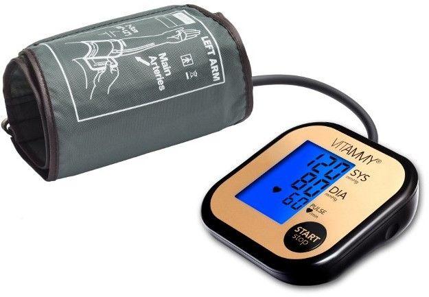 VITAMMY ULTRA BEAT Golden Black Ciśnieniomierz naramienny 22-42 cm z podświetleniem i etui