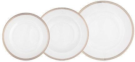 Mariapaula Promise 18 El. Biały - Komplet Talerzy Porcelanowych Na 6 Osób