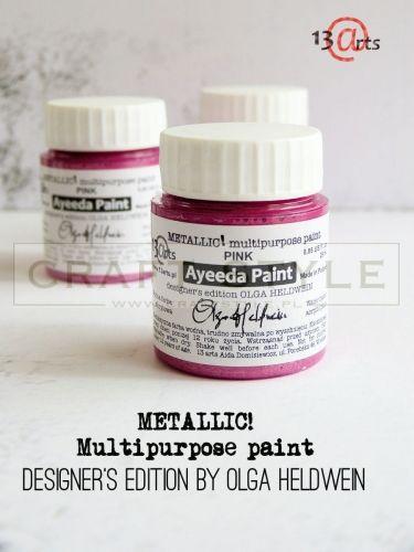 Farba akrylowa 25ml - metallic - PINK