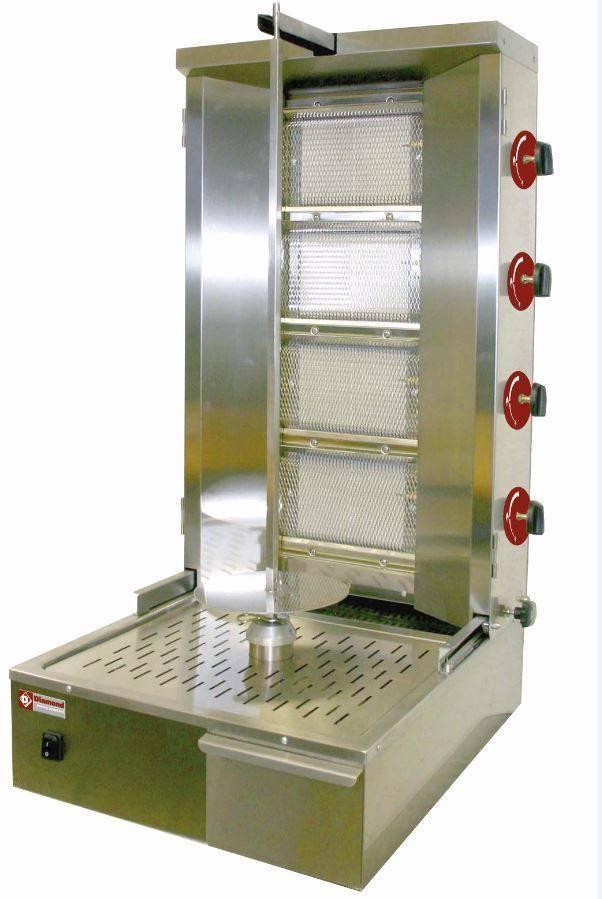 Gyros gazowy 40-55kg 150W 580x660x(H)1045mm