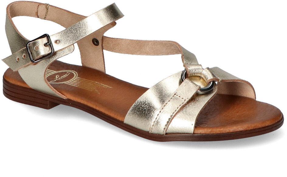Płaskie Sandały Lemar Złote
