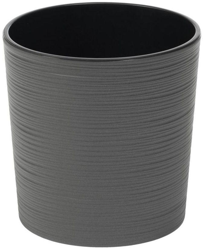 Doniczka plastikowa 25 cm grafitowa MALWA