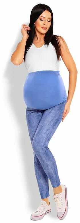 Ciążowe legginsy Kyra niebieskie o wyglądzie